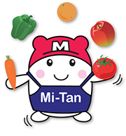 Mi-tan, Mitsuwa's mascot juggling vegetables