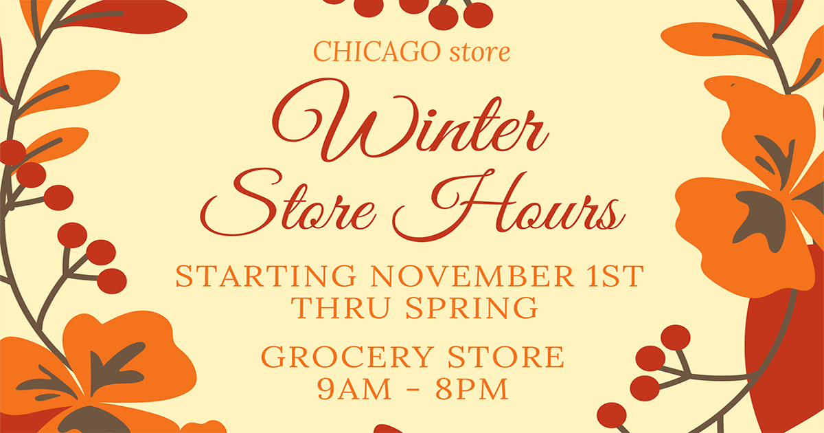 Winter Store Hours