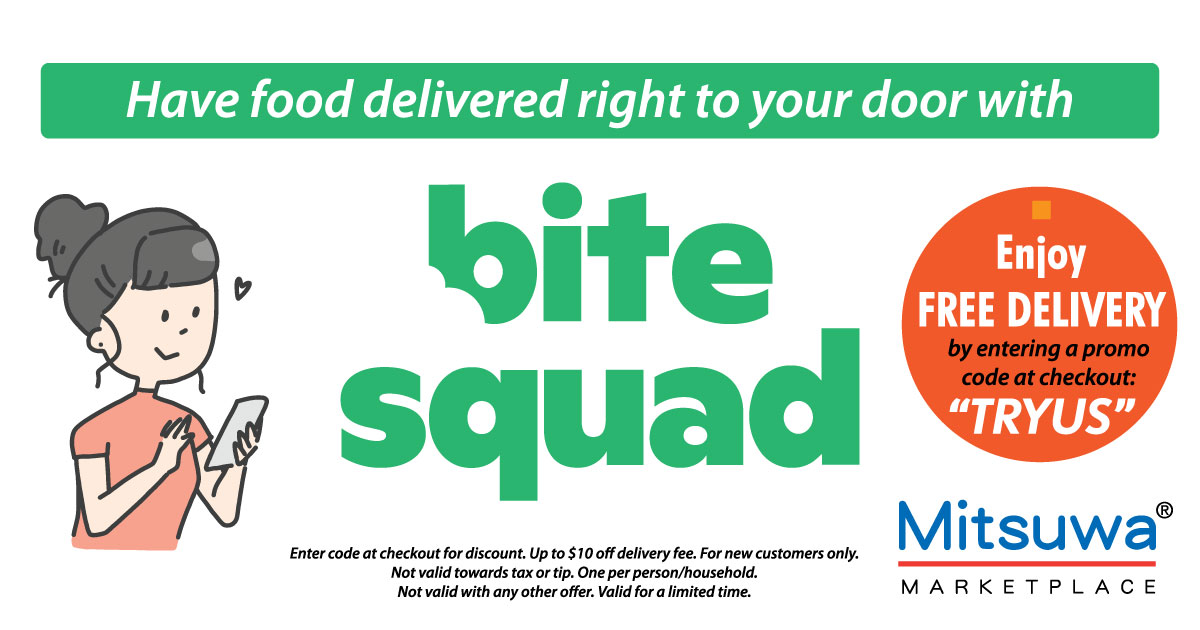 Enjoy FREE DELIVERY with Bite Squad